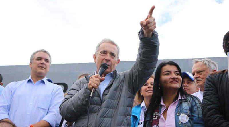Former Colombian President Alvaro Uribe. Photo: Alvaro Uribe website