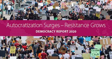 Autocratization Surges–Resistance Grows Democracy Report 2020. Photo: V-Dem Institute