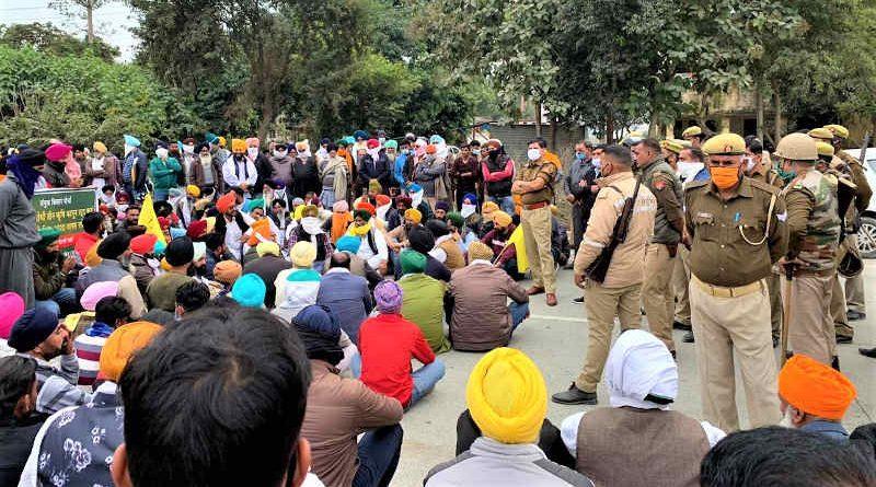 Farmers protesting in New Delhi, India. Photo: AIKSCC (file photo)