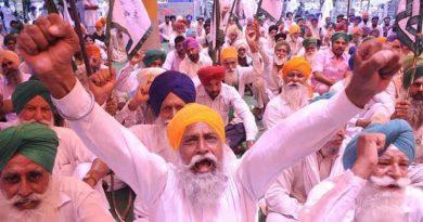 Punjab farmers protesting against the farm laws imposed by the Modi government. Photo: Shiromani Akali Dal