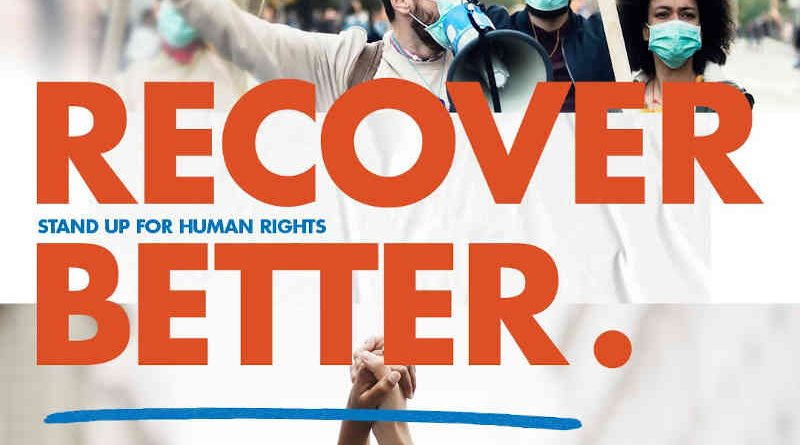 Recover Better. Stand Up for Human Rights. Photo: UN