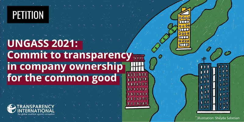 UN General Assembly Urged to End Anonymous Shell Companies. Photo: Transparency International