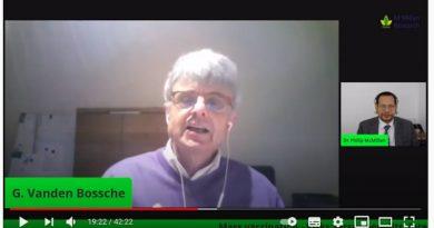 Screengrab from the video interview of Dr. Geert Vanden Bossche