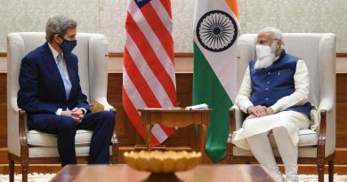 The U.S. Special Presidential Envoy for Climate, Mr. John Kerry, meeting the Prime Minister of India, Mr. Narendra Modi, in New Delhi on April 7, 2021. Photo: PIB