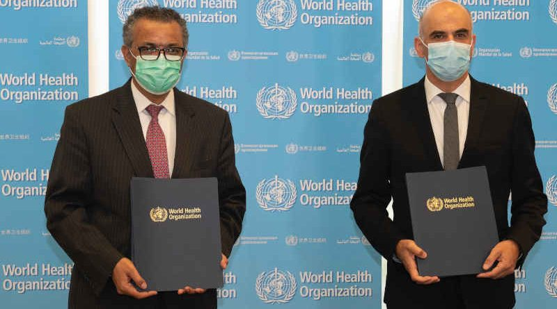 WHO Director-General Dr Tedros Adhanom Ghebreyesus at the launch program of WHO BioHub Facility on May 24, 2021. Photo: WHO