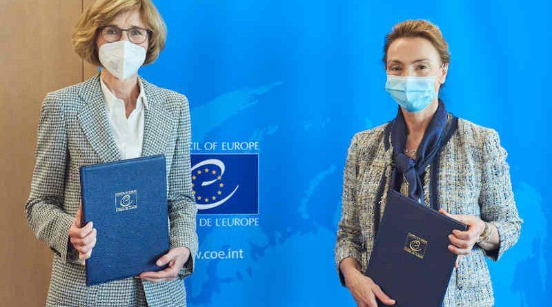 Margarete Gräfin von Galen, President of the CCBE; Marija Pejčinović Burić, Secretary General of the Council of Europe. Photo: Council of Europe