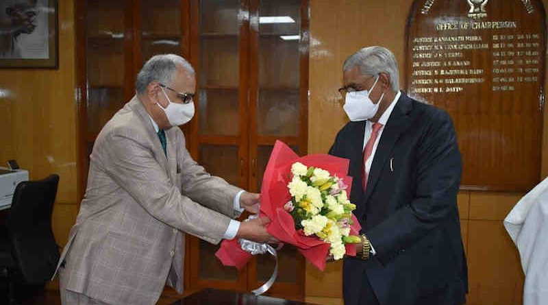 Arun Kumar Mishra, former Judge of the Supreme Court of India, joined as the new Chairperson of the National Human Rights Commission (NHRC) of India on June 2, 2021. Photo: NHRC