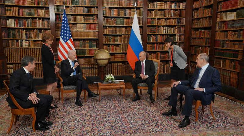 The meeting between the U.S. President Joe Biden and the Russian President Vladimir Putin on June 16, 2021 in Geneva. Photo: White House