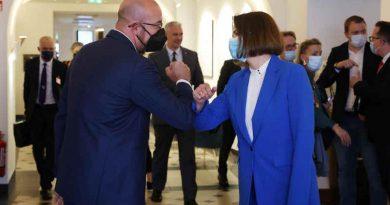 Charles Michel, President of the European Council with exiled Belarusian opposition leader Svetlana Tikhanovskaya. Photo: European Council / Twitter
